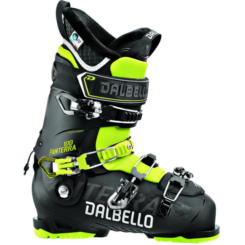 Bottes de ski Panterra 100 Noir/Jaune acide