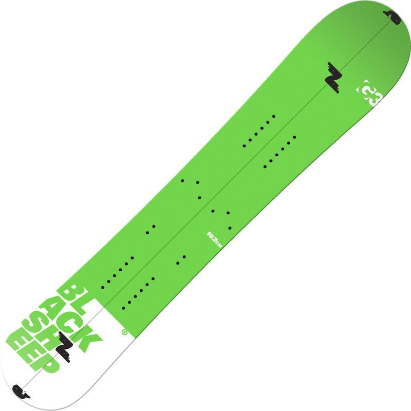 Planche à neige divisible Black Sheep en carbone Vert/Blanc