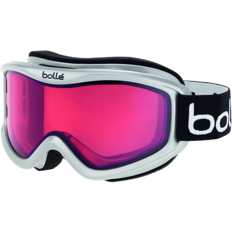 Lunettes de ski Mojo Blanc luisant/Vermillon