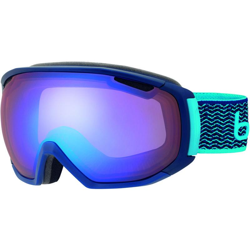 Lunettes de ski Tsar Bleu néon marine mat/Aurore