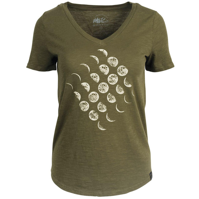 T-shirt Moon Cycle Olive