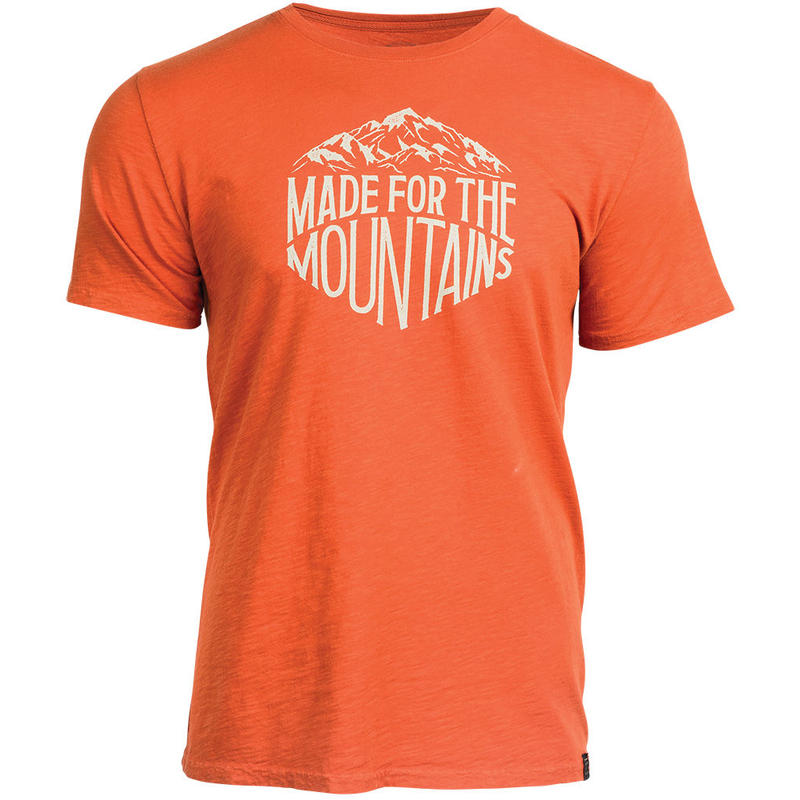 T-shirt Made For The Mountains Rouille