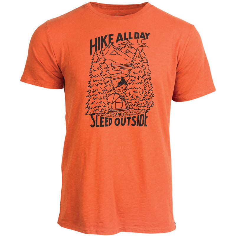 T-shirt Hike All Day Rouille