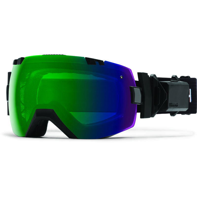 Lunettes de ski I/O X avec ventilateur Turbo Noir/ChromePopVertQuotidien/ChromePop rose tempête