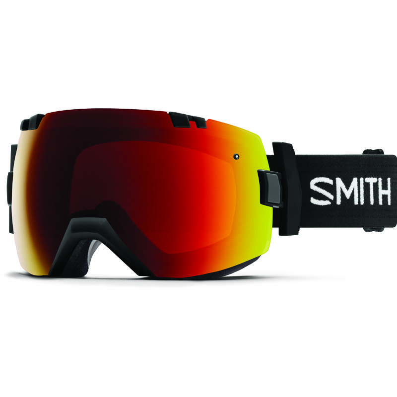 Lunettes de ski I/OX Noir/ChromePopRougeSoleil/ChromePop rose tempête
