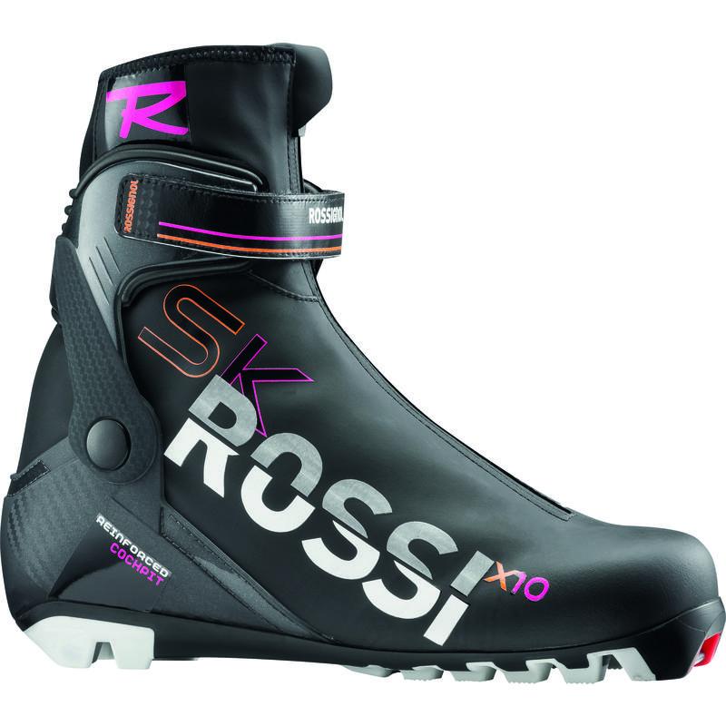 Bottes de ski de patin X10 FW Blanc/Noir