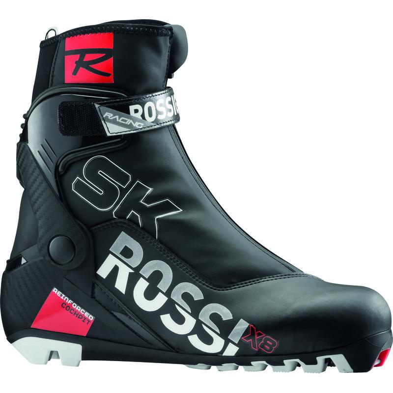 Bottes de ski de patin X8 Noir/Argent