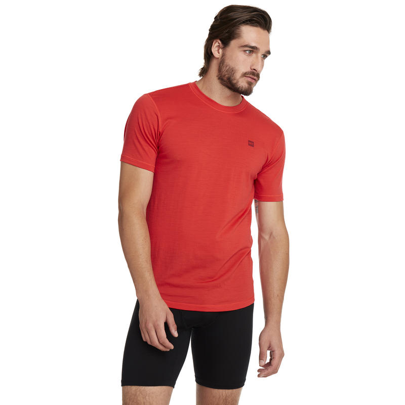 Merino T1 Short-Sleeved Crew Victory Red