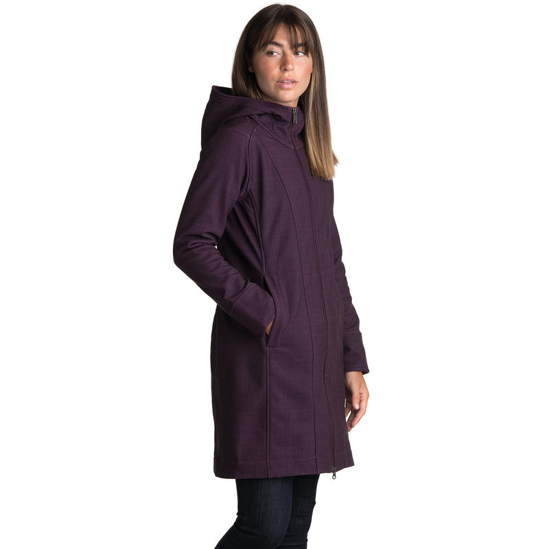 Barbizon Coat Cassis Grid Print