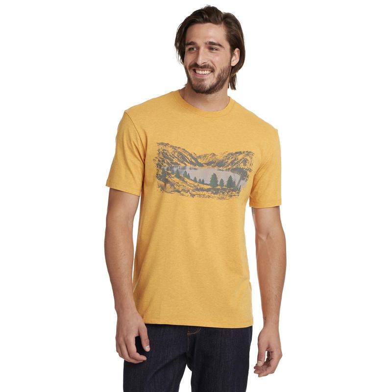T-shirt Graphic Progression Graphique lac gelé doré chiné