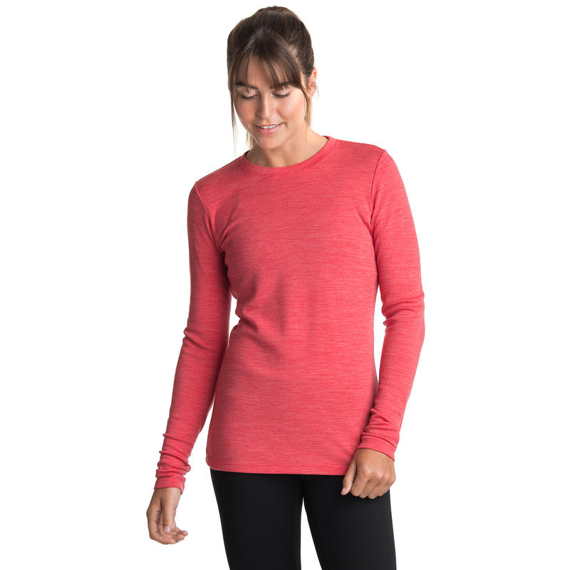 Merino T3 Long-Sleeved Crew Victory Red Heather
