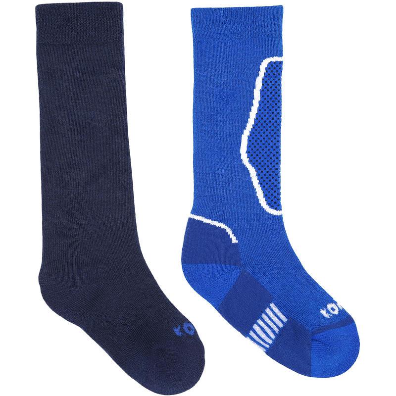 Chaussettes de ski Brave (2 paires) Bleu nordique