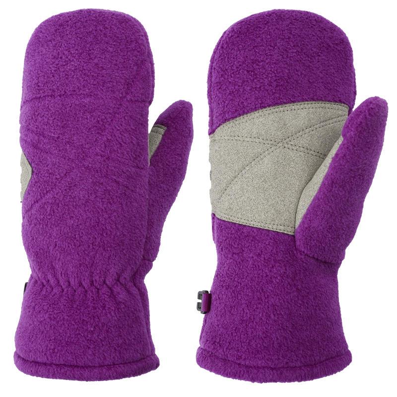 Double Fleece Mitts Potent Purple