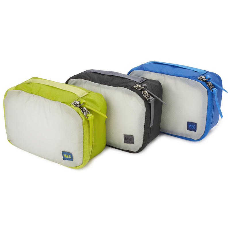 Travel Light Packing Cube 3-Pack Small Black/Cobalt/Lima