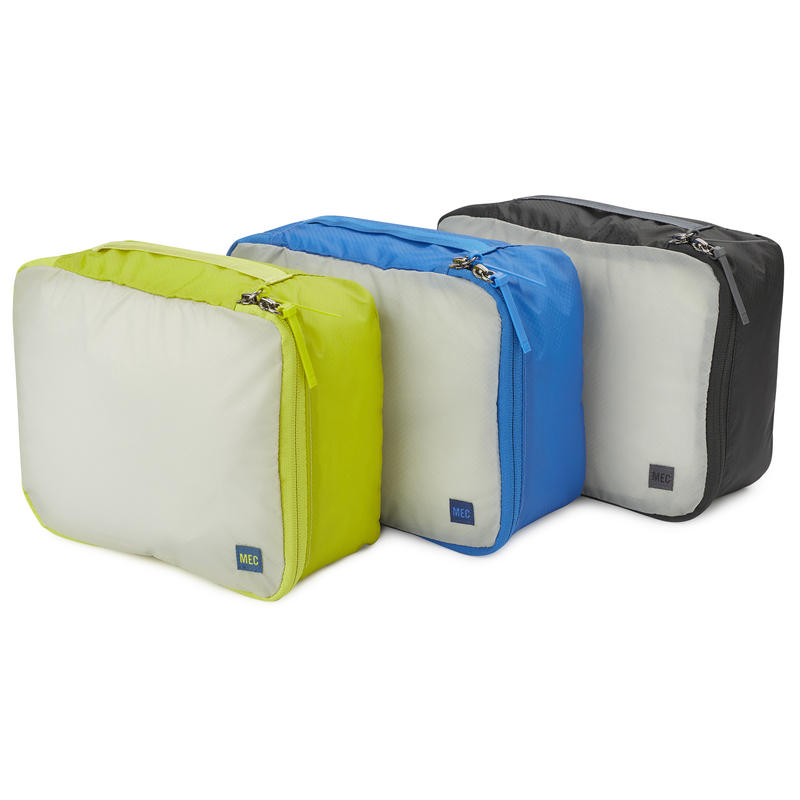 Travel Light Packing Cube 3-Pack Medium Black/Cobalt/Lima