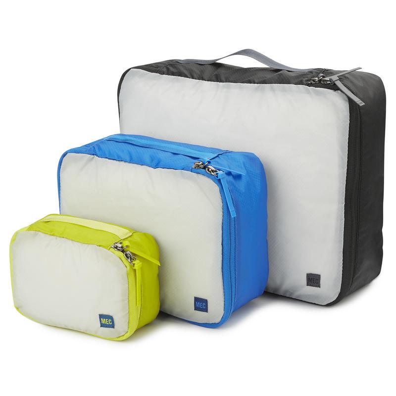 Travel Light Packing Cube 3-Pack Multisize Black/Cobalt/Lima