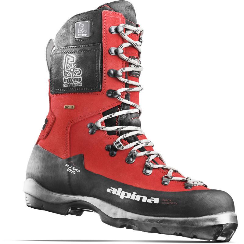 Bottes de ski chauffantes Alaska NNN BC Noir/Orange