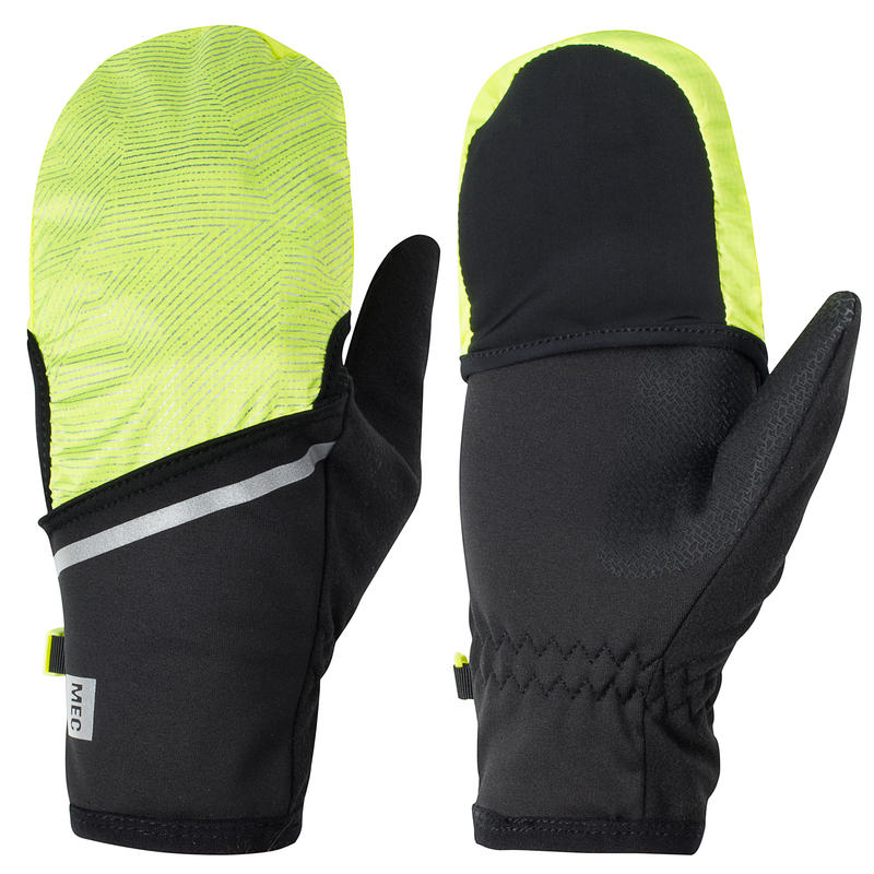Convert Run Gloves Black/Hi-Vis Yellow