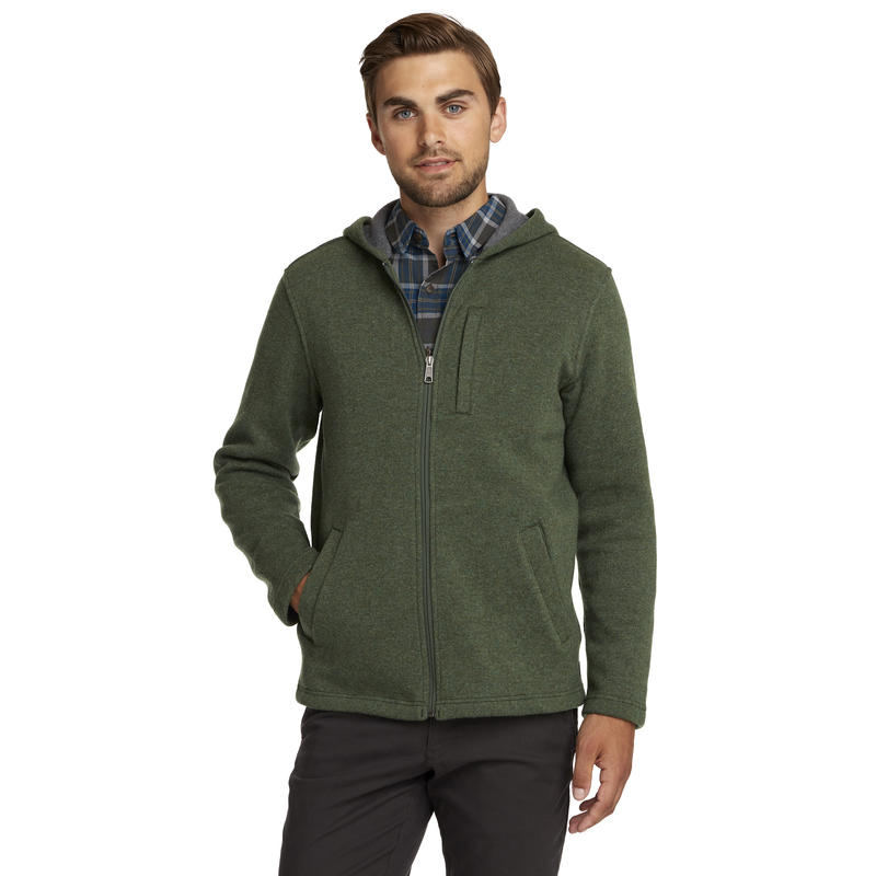 Sable Zip Hoody Rainforest Heather