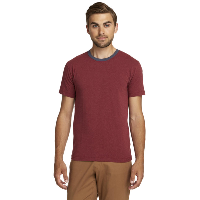 T-shirt Ringer Rouge oxyde chiné