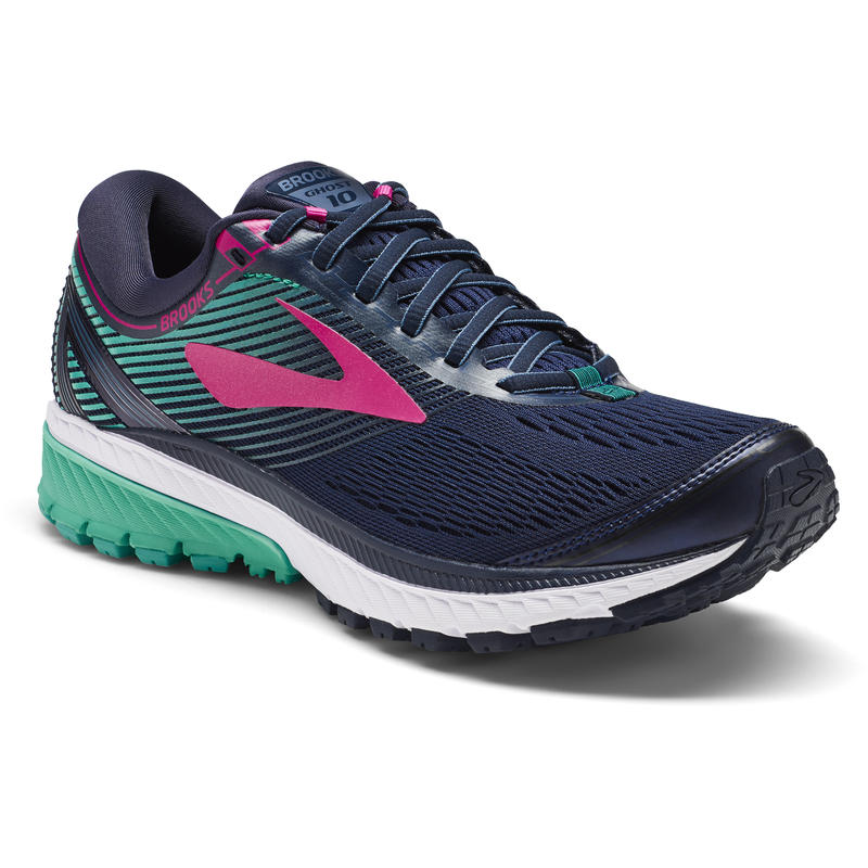 Ghost 10 Road Runnings Shoes Navy/Pink/Teal Green
