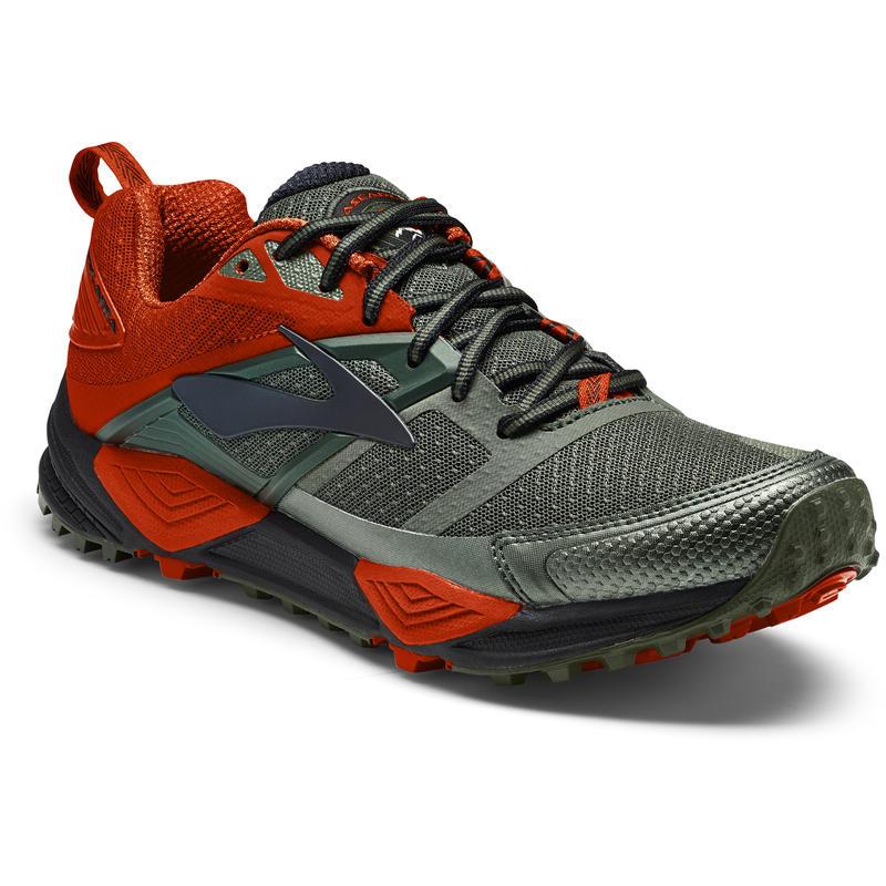 Chaussures de course Cascadia 12 Vert/Orange/Noir