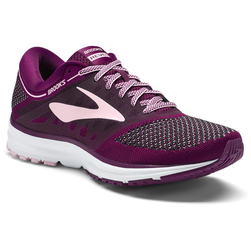 Revel Road Running Shoes Plum/Pink/Black
