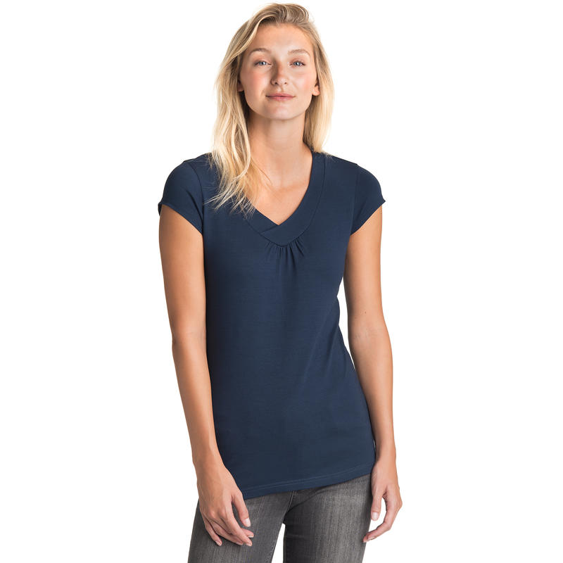 T-shirt à mancherons Bleu minuit