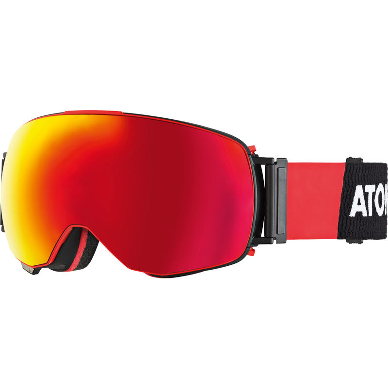 Lunettes de ski Revent Q Stereo Robe noire/Stéréo rouge/Stéréo rouge pâle