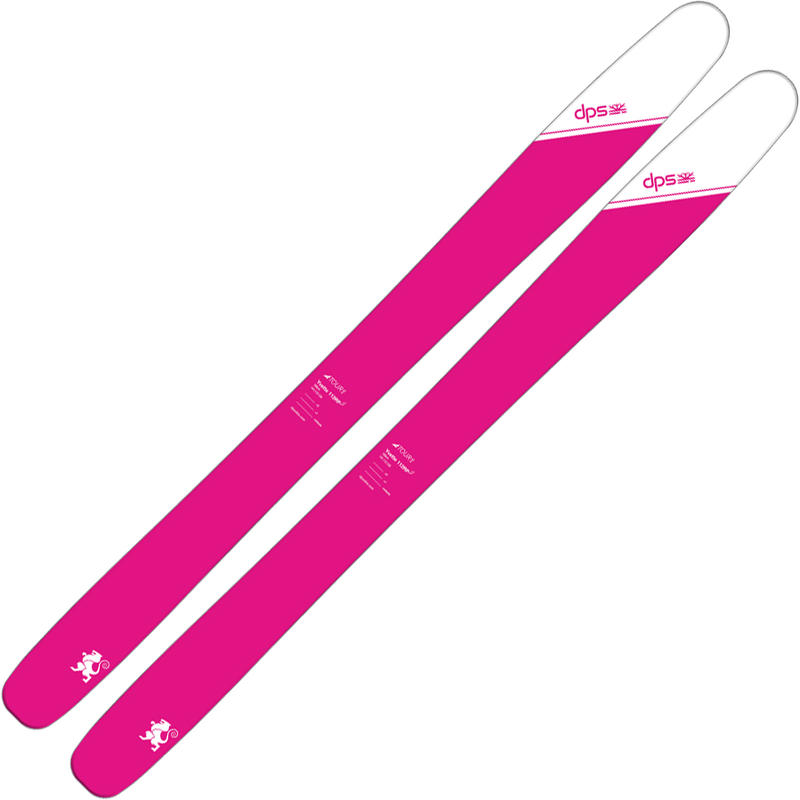 Skis Yvette 112 Tour 1 Rose coquelicot