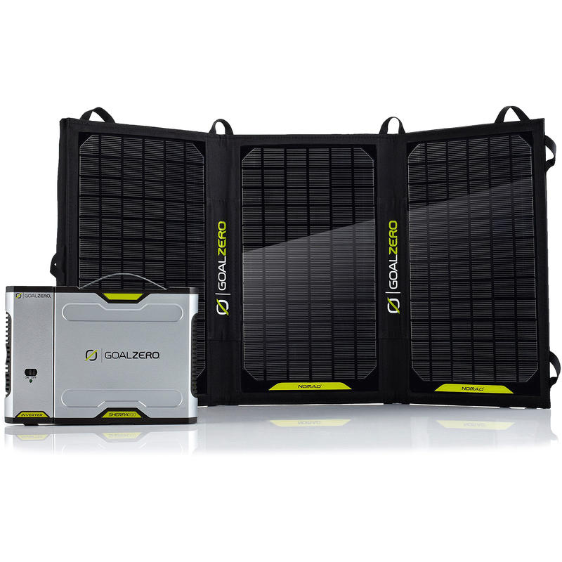 Chargeur solaire Sherpa 100 et onduleur