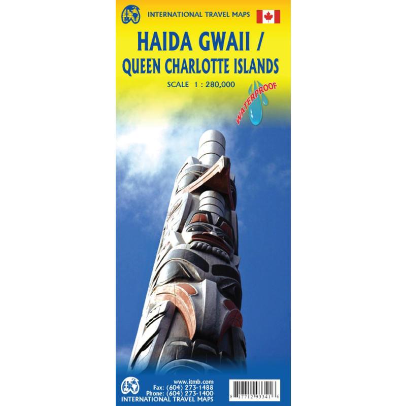 Carte Haida Gwaii/Queen Charlotte Island