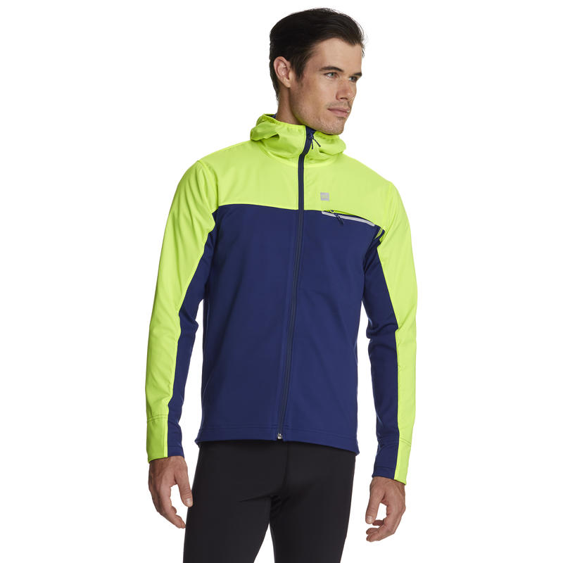 Nitro Thermal Run Jacket Indigo/Hi-Vis Yellow