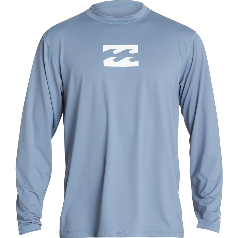 All Day Wave LS Surf Shirt Blue Slate