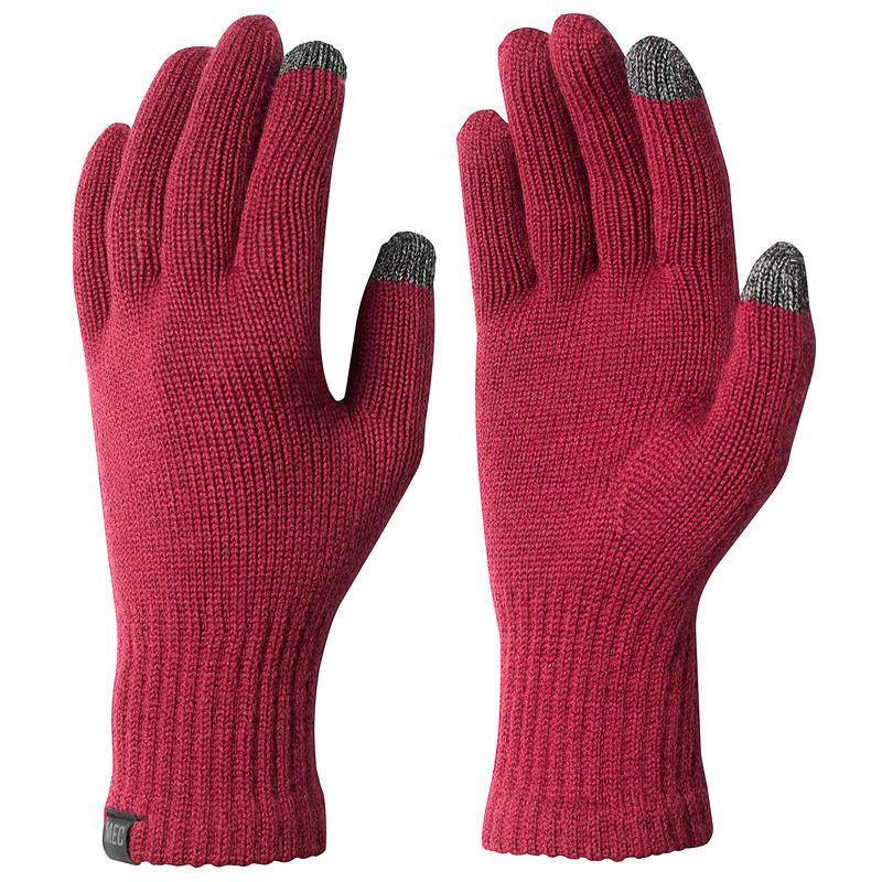 Sous-gants en laine mérinos Rouge oxydé