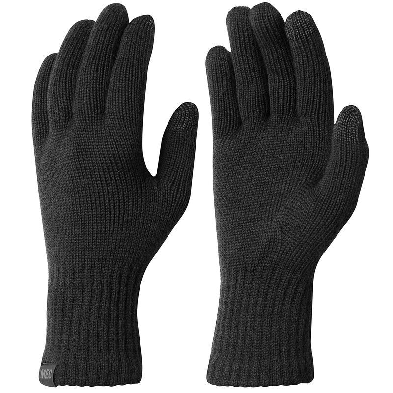 Merino Liner Gloves Black