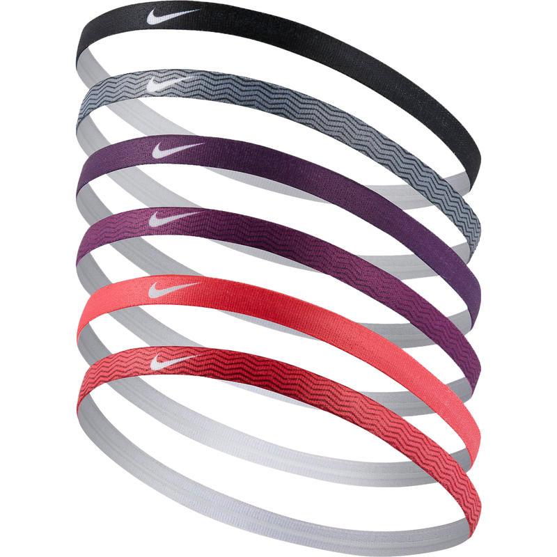 Printed Headbands Assorted 6 Pack TeamRed/LTFsnRed/NghtPrpl