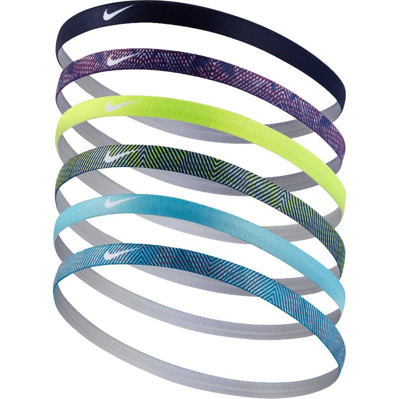 Printed Headbands Assorted 6 Pack Blustery/LgtAqua/BnryBlue
