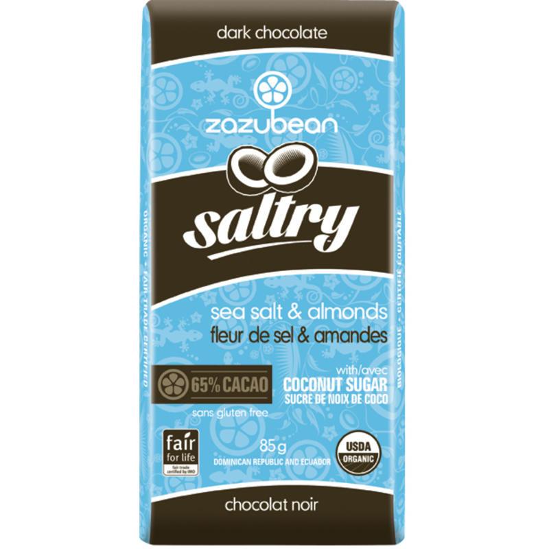 Saltry Sea Salt& Almonds - Dark Chocolate Bar