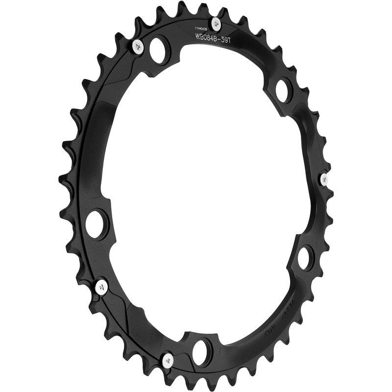 Plateau de vélo Omega en alliage (130 mm/5 vis) Noir