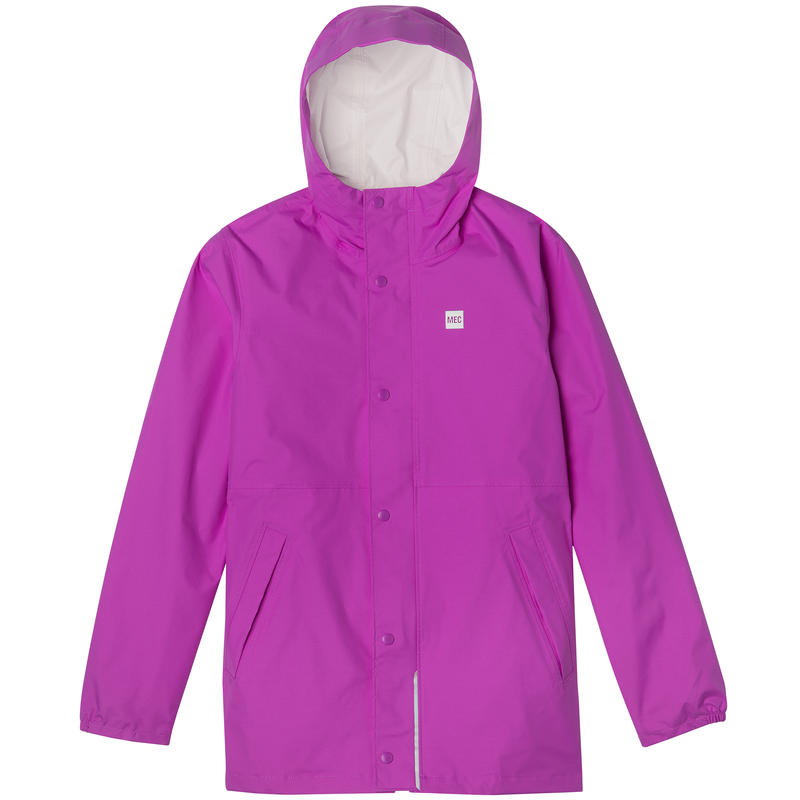 Reflective Rain Jacket Purple Cactus