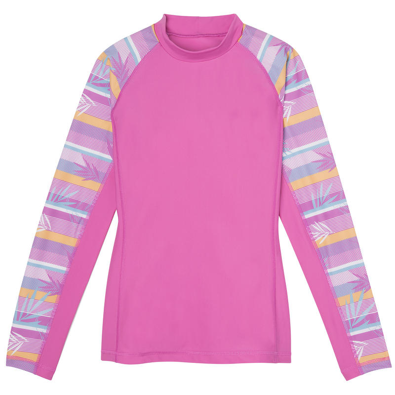 Shadow Long-Sleeved Sun Shirt Neon Orchid/Neon Orchid Palm Print