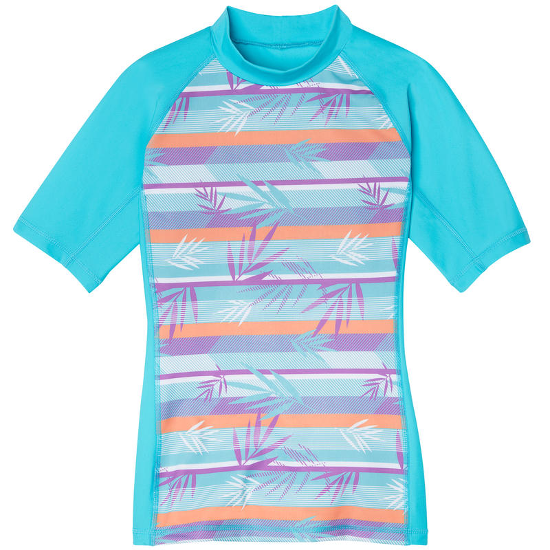 Shadow Short Sleeve Sun Shirt Miami Blue/Miami Blue Palm Print