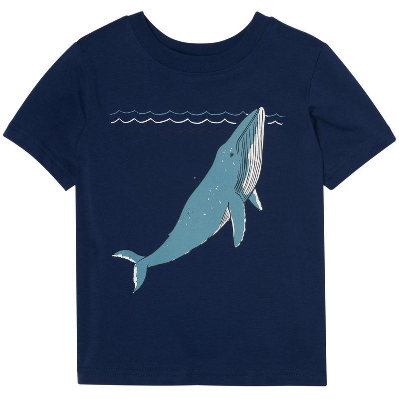 Jaden Short Sleeve T-Shirt Indigo Diving Whale Graphic