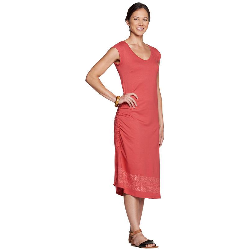 Robe Muse Imprimé Bordure Rhubarbe