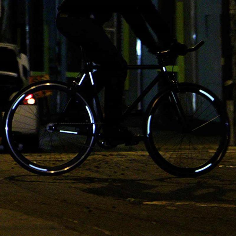 Lightweights Safety Adhesive Reflective Wheel Kit 86 Pcs Reflective Silver Bike