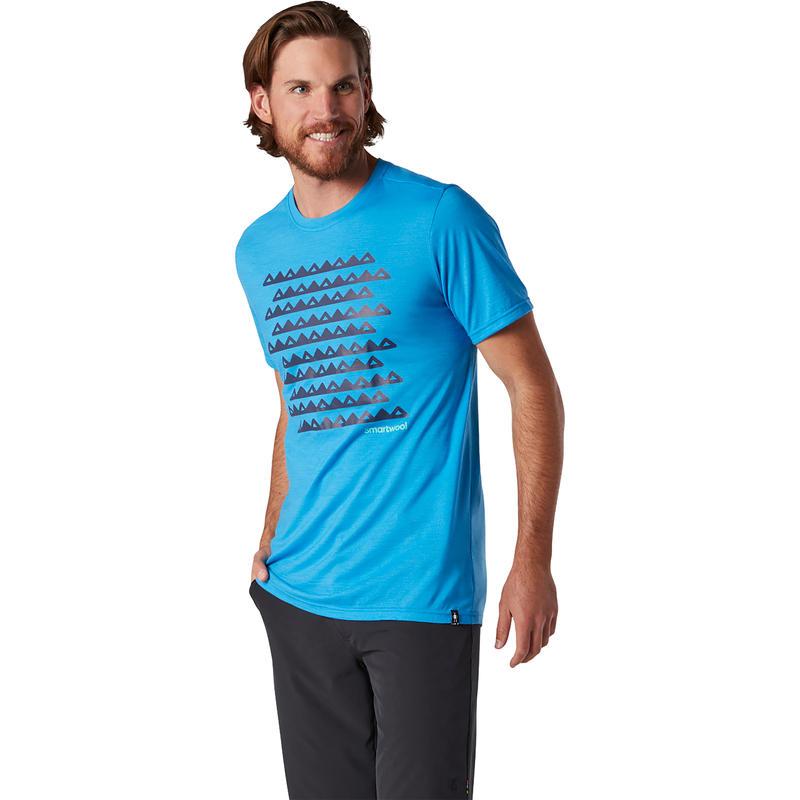 X-Large Moss Green Heather Smartwool Mens Merino Sport 150 Mountain Morning T-Shirt