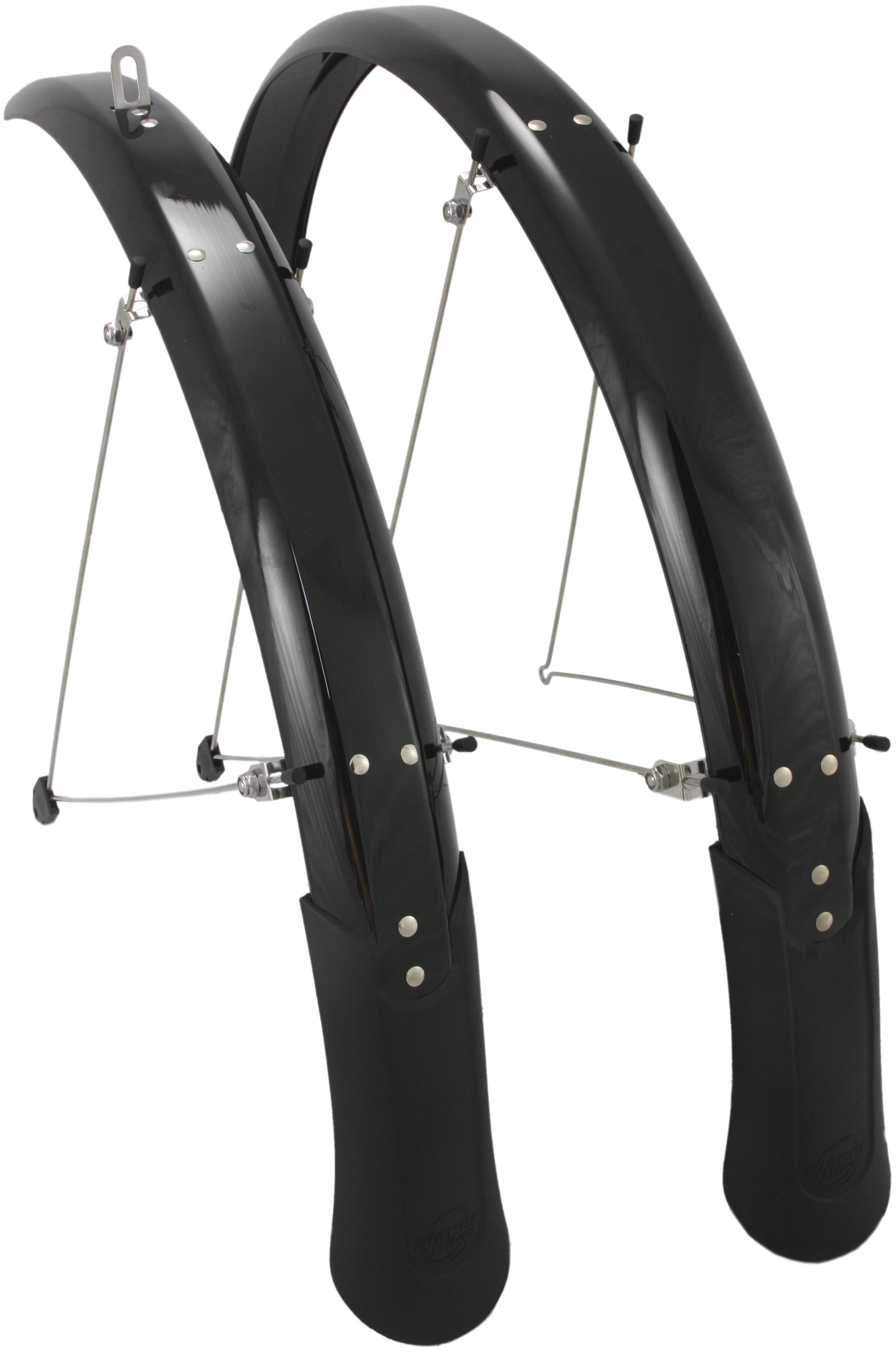 SKS Commuter II Fenders-700x25-35mm-Full-Pair-Hybrid Bike Fender Set-Silver