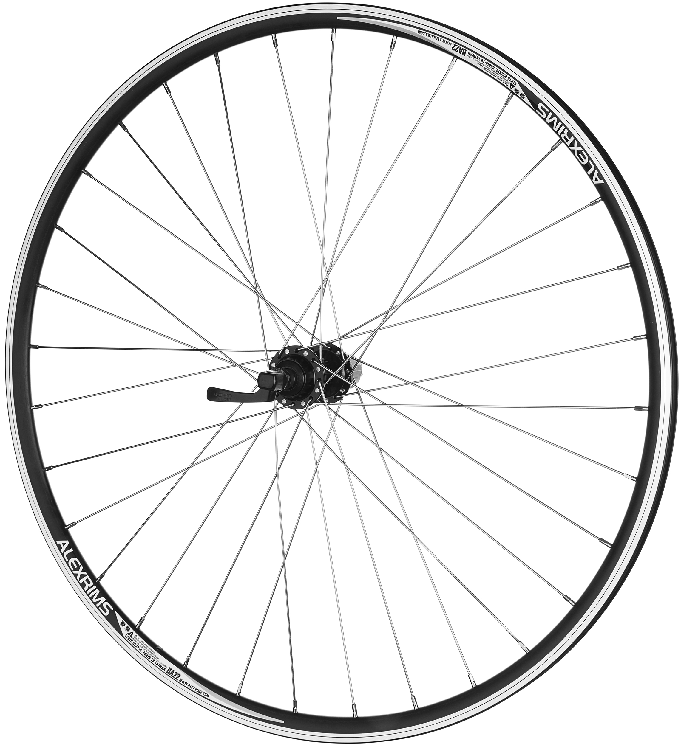 700 X 25C Front /& Rear 7 spd Road Bike wheelset RIM w Q.R Black