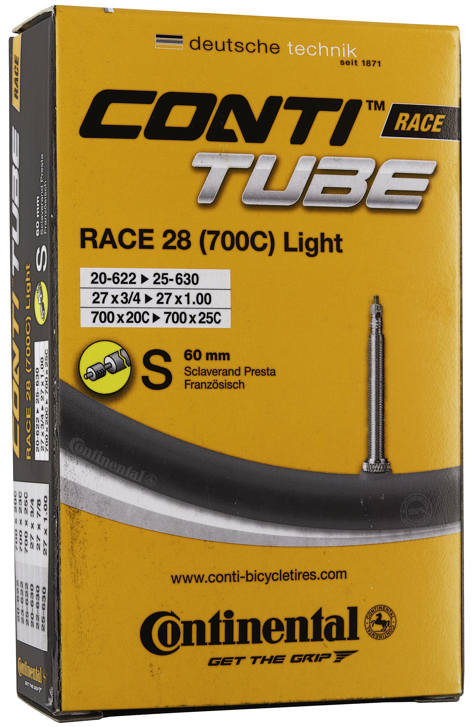 478b6f664d9 Continental 700 x 18-25 Light Tube (60mm Presta Valve)